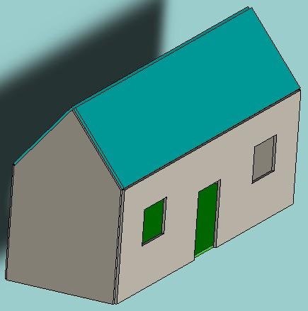 Maison avec toiture ouverture