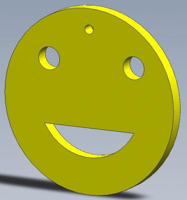 Porte cles smiley