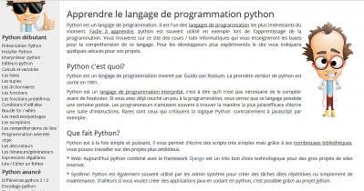 Site python programmation